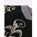 cheap Stand Neck Embroidered Cardigan