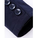 Button Up Zip Embellished Stand Collar Coat for sale