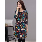 cheap Button Up Printed Quilted Coat with Pocket