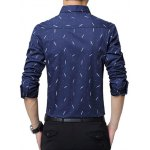 Polka Dot Plant Printed Long Sleeve Shirt for sale