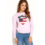 cheap US Flag Heart Pattern Pullover Sweater