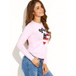 US Flag Heart Pattern Pullover Sweater deal