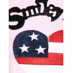best US Flag Heart Pattern Pullover Sweater