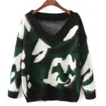 Jacquard Camoflage Mohair Jumper