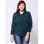 Buttoned Plaid Slim Shirt