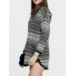 cheap Chevron Pattern Long Sweater