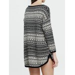 Chevron Pattern Long Sweater deal