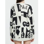 Dropped Shoulder Graphic Mohair Sweater deal