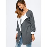 cheap One Button Slit Drape Coat