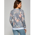 Flower Print Pullover Sweatshirt for sale