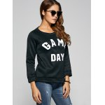 cheap Game Day Print Pullover Sweatshirt