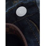 Mid Waist Zipper Fly Dark Washed Jeans deal