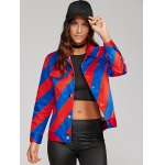 cheap Colorful Striped Shirt Jacket