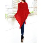Tassels Zigzag Asymetrical Cape Sweater for sale