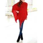 Tassels Zigzag Asymetrical Cape Sweater deal