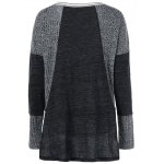 Striped Ribbed Knitted High Low Pullover photo