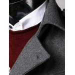 Belted Lapel Single Breasted Woolen Tweed Coat for sale