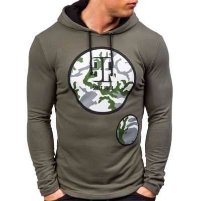 Active Graphic Printed Pullover Hoodie