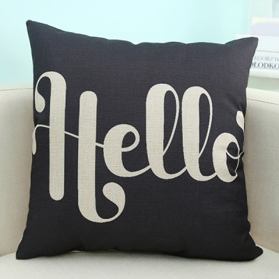 English Quote Design Sofa Pillow Case
