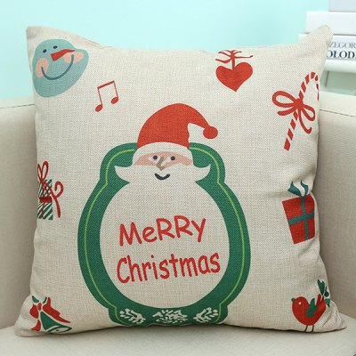 Merry Christmas Design Sofa Pillow Case