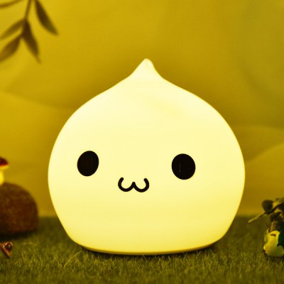 7Color Change LED Silica Gel Cartoon Charging Night Light