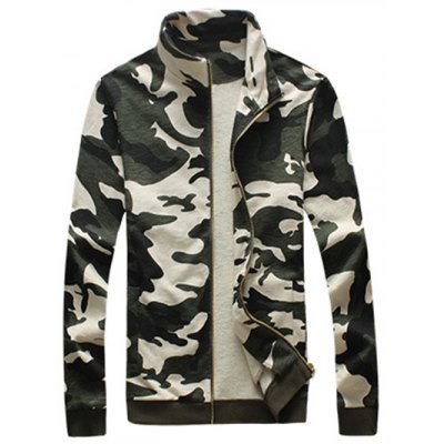Camouflage Drawstring Long Sleeve Active Suit (Jacket with Pants)Mens Jackets &amp; Coats<br>Camouflage Drawstring Long Sleeve Active Suit (Jacket with Pants)<br><br>Clothes Type: Jackets<br>Style: Casual<br>Material: Cotton Blends,Polyester<br>Collar: Stand Collar<br>Clothing Length: Regular<br>Sleeve Length: Long Sleeves<br>Season: Fall,Spring<br>Weight: 1.400kg<br>Package Contents: 1 x Jacket 1 x Pants