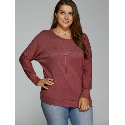 Plus Size Batwing Sleeve T-Shirt