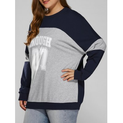 Color Block Plus Size Sweatshirt