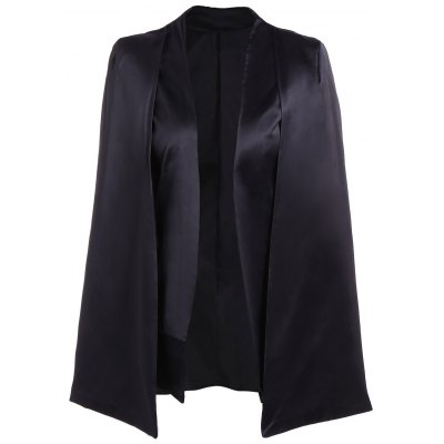 Collarless Cape Blazer