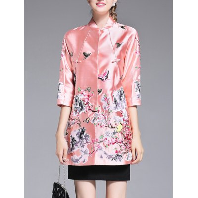 Embroidery Chinese Style Trench Coat