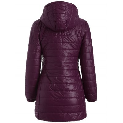 Hooded Zip-Up Padded Coat
