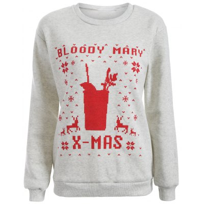 Christmas Loose Printed Sweatshirt