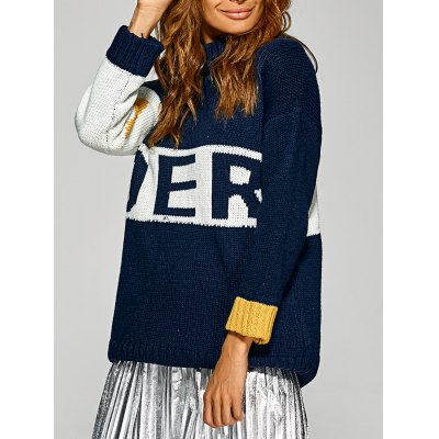 Letter Red Pattern Sweater
