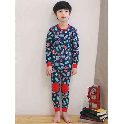 Kids Cartoon Print  Long Sleeve Pajamas