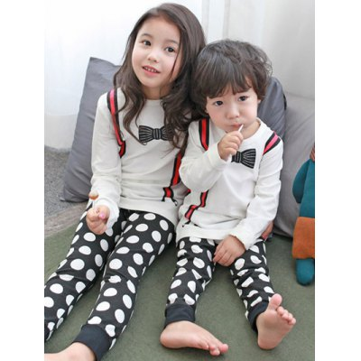 Kids Polka Dot Long Sleeve Pajamas
