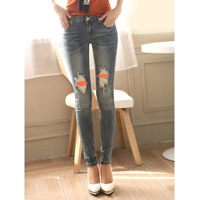 Ripped Distressed Patches Jeans