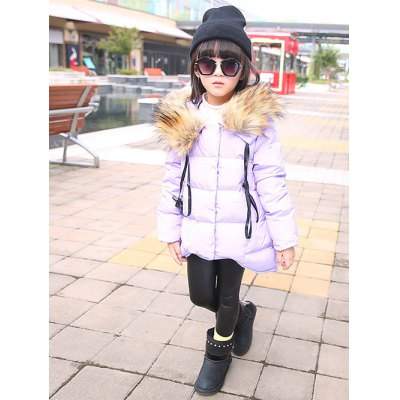 Wide Waist Hooded Padded Coat