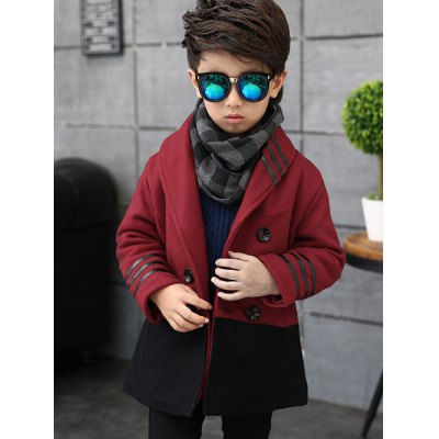 Shawl Collar Double Breasted Woolen Coat
