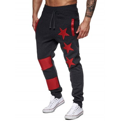 Star Printed Spliced Drawstring Waist Jogger PantsMens Pants<br>Star Printed Spliced Drawstring Waist Jogger Pants<br><br>Closure Type: Drawstring<br>Fit Type: Regular<br>Front Style: Pleated<br>Material: Cotton Blends<br>Package Contents: 1 x Pants<br>Pant Length: Long Pants<br>Pant Style: Jogger Pants<br>Style: Active<br>Waist Type: Mid<br>Weight: 0.2340kg<br>With Belt: No