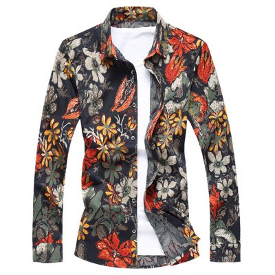 Button Up Floral Long Sleeve Shirt