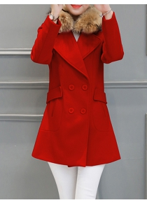 Fur Collar Walker Peacoat
