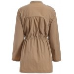 Plus Size Drawstring Trench Coat with Pocket deal