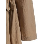 best Plus Size Drawstring Trench Coat with Pocket