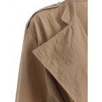 Plus Size Drawstring Trench Coat with Pocket for sale