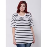 Drop Shoulder Striped T-Shirt