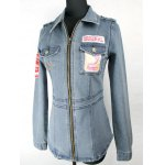 Letter Embroidered Patched Fit Denim Jacket deal