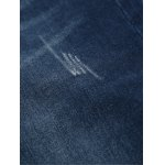 Straight Leg Zipper Fly Scratched Five-Pocket Jeans for sale
