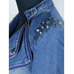 Studded Zip Up  Fit Jean Punk Jacket for sale