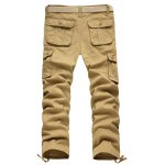 cheap Zipper Fly Straight Leg Pockets Embellished Cargo Pants
