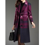cheap Notched Collar Woolen Coat